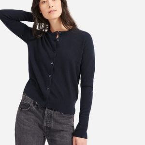 Everlane The Cashmere Crew Button Front Cardigan